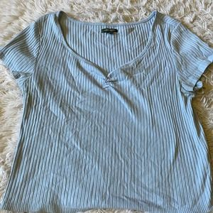 Wild Fable Blue T Shirt Ribbed Sz L